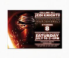 Star Wars Birthday Invitation / Star Wars the Force Awakens / Dark Force / Kylo Ren / Digital Printable by PapillonStationery on Etsy