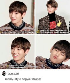 No one is safe from Taehyung's aegyo