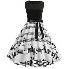 Womens Hepburn Style Skater Vintage Rockabilly Party Prom Swing Dress - Swing Dresses - Ideas of Swing Dresses Vintage Summer Dresses, Cute Prom Dresses, Summer Dresses For Women, Dresses For Teens, Pretty Dresses, Beautiful Dresses, Vintage Outfits, Dress Vintage, Vintage Clothing