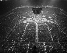 Massive Nazi rally held at Madison Square Garden, February 20, 1939.