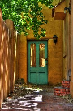 Warm rich colors, I can't wait to walk through that door Albuquerque New Mexico Old Town off the Route 66