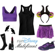 """""""Disney Villain Maleficent Running Costume"""" by mamaspartydress on Polyvore"""