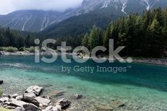 Lake Obernberg in the Alps royalty-free stock photo