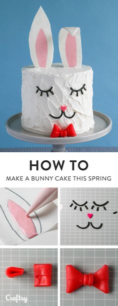 Give your Easter dessert spread an update with a trendy bunny cake!
