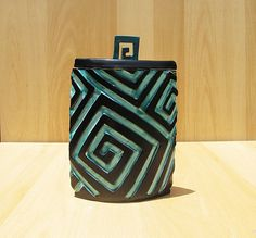 Ceramic Box with Lid in Turquoise Blue Home Decor by Rakuzuza, $39.55