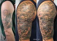 Tattoo Cover Up Ideas! Just as a phoenix rises from the ashes born anew, a tattoo you no longer desire can be made into something beautiful! Here are 60 Tattoo Cover Up Ideas! #inkdoneright #tattoo #tattoos #inked #art #inkedgirls #tattooed #tattooedgirls