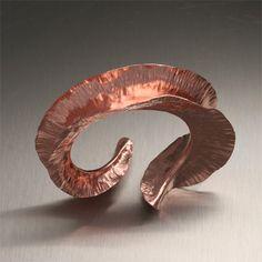 Handcrafted Copper Jewelry... forgiatura anticlastica John S. Brana