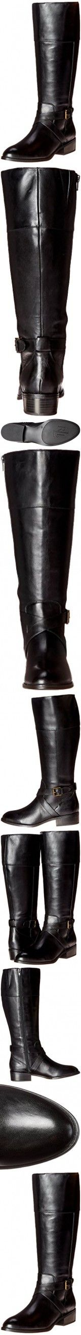Lauren Ralph Lauren Women's Maryann Wide Calf Riding Boot, Black, 6.5 B US