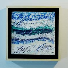 mixed media calligraphy encaustic painting