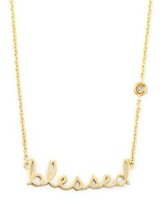Blessed+Pendant+Bezel+Diamond+Necklace+by+SHY+by+Sydney+Evan+at+Neiman+Marcus.