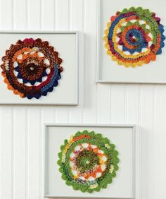 Free Crochet Pattern: Colorful Doilies by Red Heart Yarn