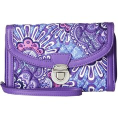 d6b81ab8973e Vera Bradley Ultimate Wristlet (Lilac Tapestry) (6680 ALL) ❤ liked on  Polyvore featuring bags