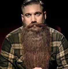 Long Hair Beard, Big Beard, Hair And Beard Styles, Long Hair Styles, Facial Hair, Jon Snow, Hipster, Mens Fashion, Studs