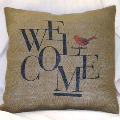 Welcome back to school - Red Bird Pillow  by Pilloshop