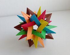 六个交叉的五角星折纸图谱教程—Francesco Mancini