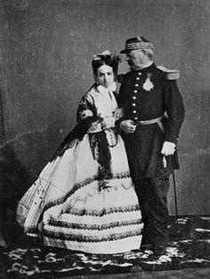 Il generale Bazaine e la sua giovanissima moglie Margherita de la Pena (1865)