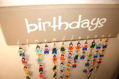 Lil People Birthday Chart