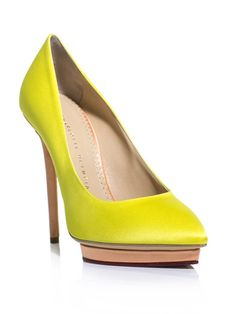 Charlotte Olympia  Debonaire neon shoes