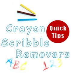 21 ways to get crayon scribbles off your walls... what worked for me on textured walls- rub toothpaste (non-gel) over marks, scrub w/ babywipe, and wipe w/ dry smooth rag.