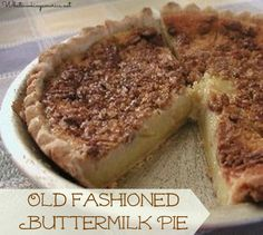 Old Fashioned Buttermilk Pie - a Texas Thanksgiving tradition! | whatscookingamerica.net #buttermilk #pie #thanksgiving