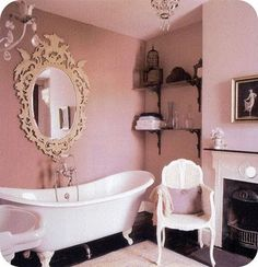 romantic bathroom attached to a girl's room
