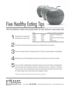 Five Healthy Eating Tips