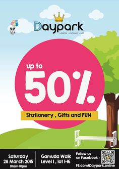 28 Mar 2015: Daypark Clearance Sale Event for Stationery & Gifts Discounts