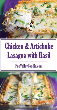 Chicken & Artichoke Lasagna with Basil Recipe