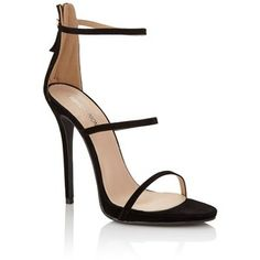 Fashion Union Double Strap Barely There Stiletto Heels