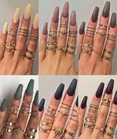 Beautiful Nail Designs To Finish Your Wardrobe – Your Beautiful Nails Gorgeous Nails, Love Nails, How To Do Nails, Fun Nails, Pretty Nails, Cuffin Nails, Salon Nails, Nails 2016, Manicures