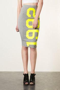 Grey Marl 1992 Tube Skirt