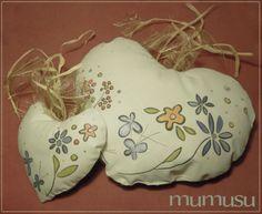 Cotton soft hearts romantic scent. Illustrations MU