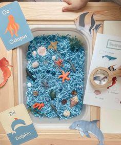 Toddler Sensory Bins, Sensory Tubs, Baby Sensory Play, Toddler Fun, Toddler Preschool, Toddler Crafts, Crafts For Kids, Montessori Activities, Infant Activities