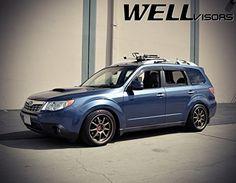 WellVisors Premium Series Side Rain Guard Window Visors Deflectors For 09-13 Subaru Forester 2009 2010 2011 2012 2013 09 10 11 12 13