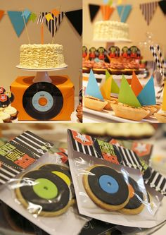 LOVE THE COLORS ON THIS PARTY | ROCK N ROLL DESSERT TABLE