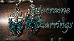 beaded earrings - micro macrame tutorial