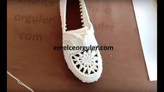 yeni Örgü Motifli modelleri ayakkabı patik yapımı