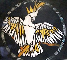 leadlight glass -  cockatoo