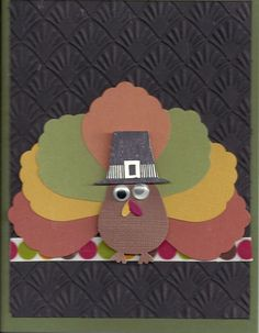 Turkey made with Blossom Petal builder punch and Owl Builder punch.