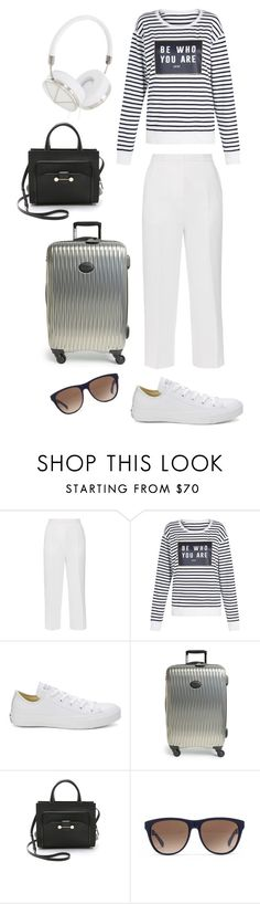 """""""Comfy airport outfit"""" by swedish-chic ❤ liked on Polyvore featuring Rochas, Lorna Jane, Converse, Longchamp, Jason Wu, Marc by Marc Jacobs and Frends"""