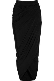 Just Cavalli Jersey maxi wrap skirt - $740.  Vogue 8711 is a great starting point!