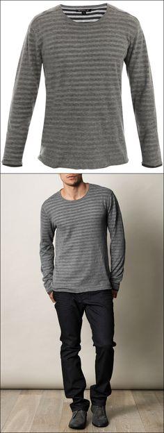 John Varvatos Usa Reversible striped sweater