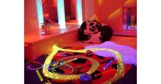 A Sensory Room Without The Price Tag Sensory Room Autism, Sensory Wall, Sensory Rooms, Baby Sensory, Sensory Activities, Multi Sensory, Sensory Boards, Sensory Bottles, Soft Play