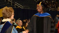 1st black female computer science PhD student at Univ. of Michigan reveals lack of rolemodels [Kyla McMullen's graduation from University of Michigan in spring (Courtesy of Kyla McMullen)]