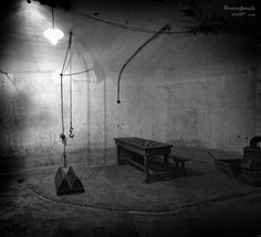 Cosy place... The torture chamber of Fort Breendonk, WW2, 2nd world war