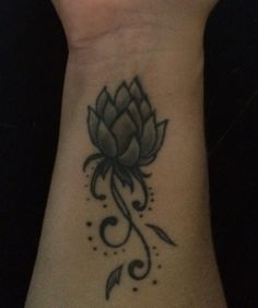 Tattoo wrist lotus flower