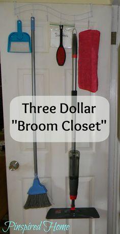 Pinspired Home: Improvised Broom Closet
