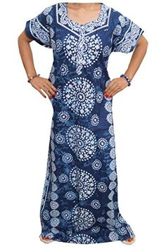 Mogul Women's Cotton Batik Printed Long Caftan Night Gown Xl Mogul Interior http://www.amazon.com/dp/B015J480Z8/ref=cm_sw_r_pi_dp_ibhewb06HQRR3
