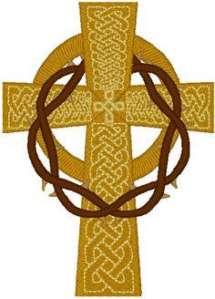 Celtic Cross with Crown of Thorns (idea)