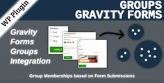 Groups Gravity Forms . This extension integrates Groups with Gravity Forms. It allows to add users to groups automatically, based on form